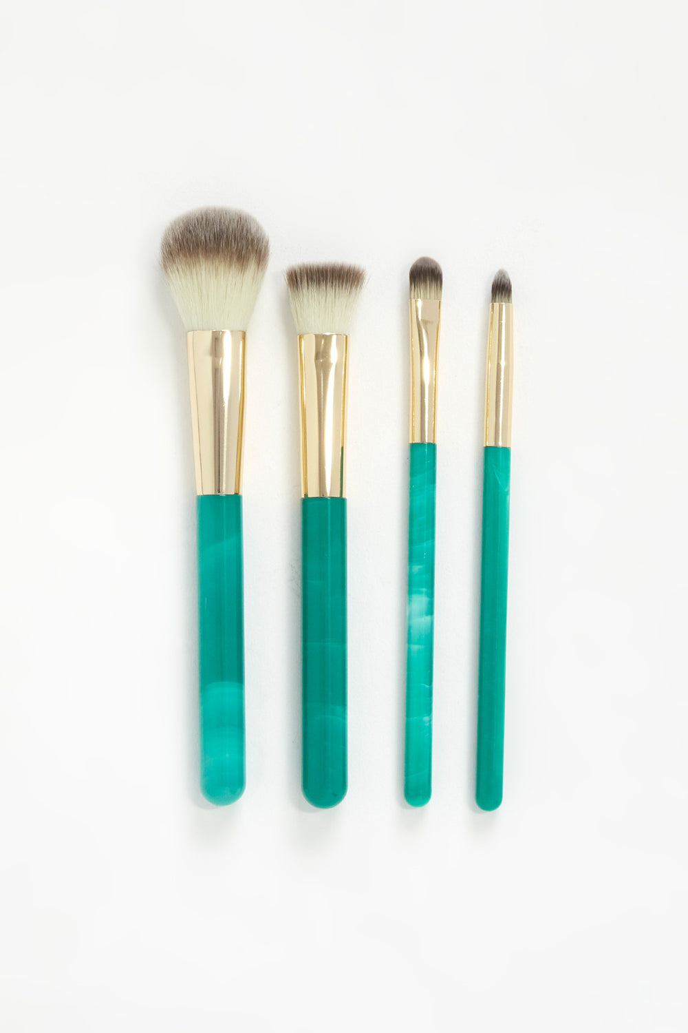 Marble 4-Piece Brush Set Green
