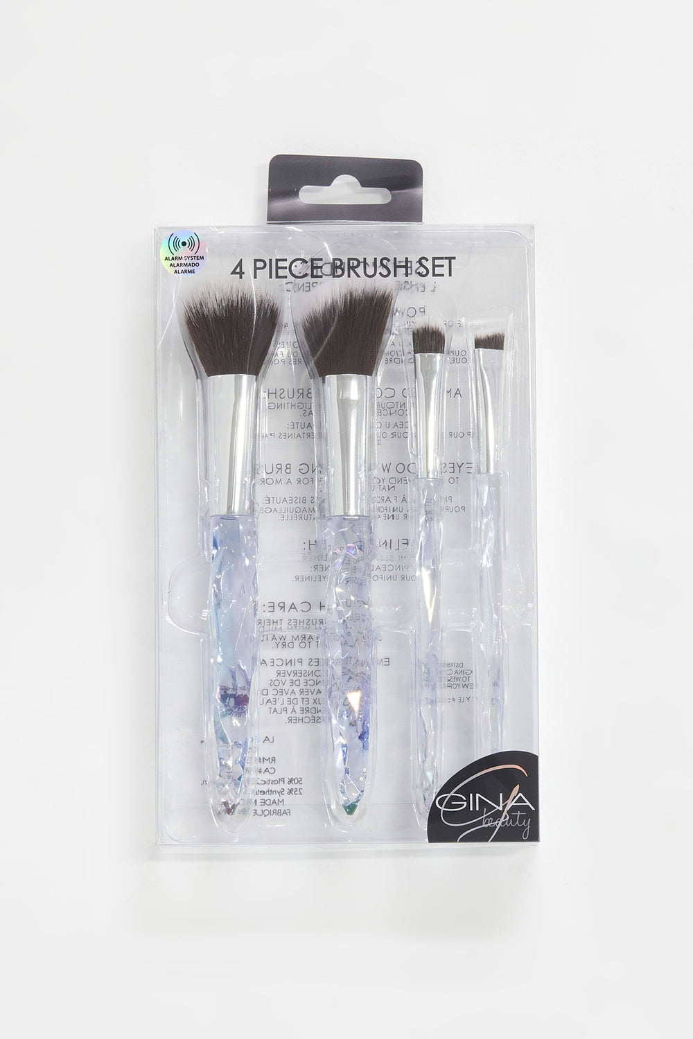 Crystal 4-Piece Brush Set Clear