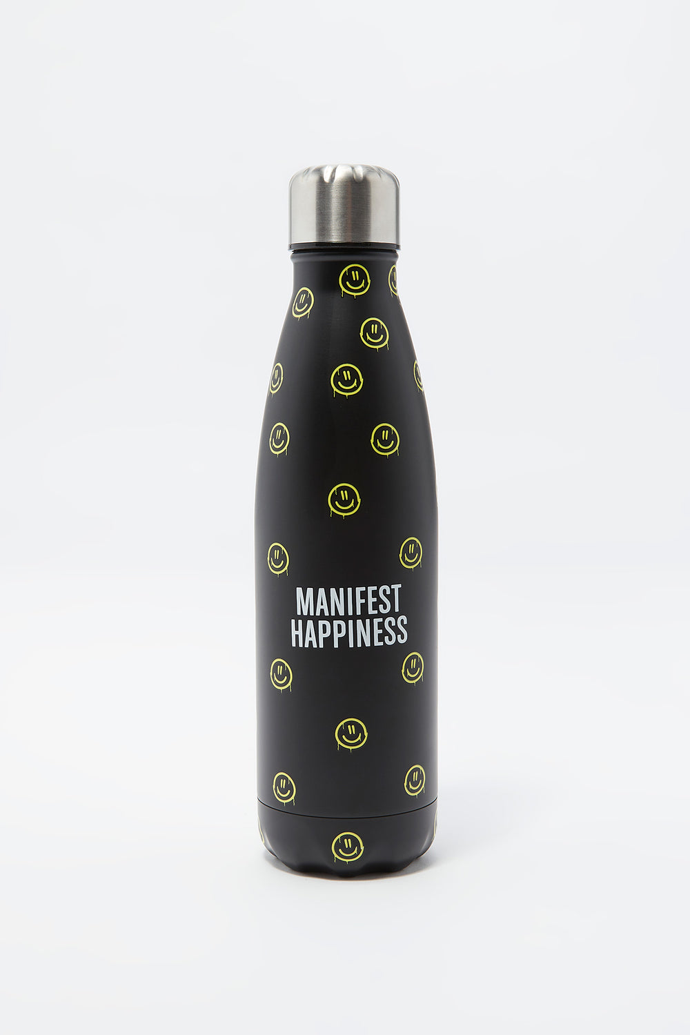 Eco-Friendly Printed Double Wall Stainless Steel Water Bottle Black
