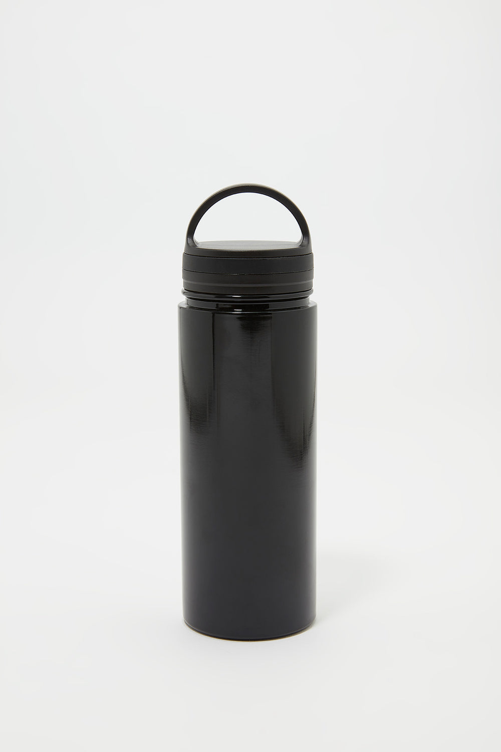 Double Wall Insulated Metal Twist Top Water Bottle Black