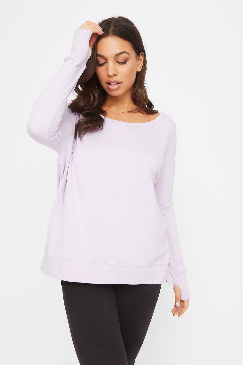 Infinite Oversized Active Long Sleeve Lilac