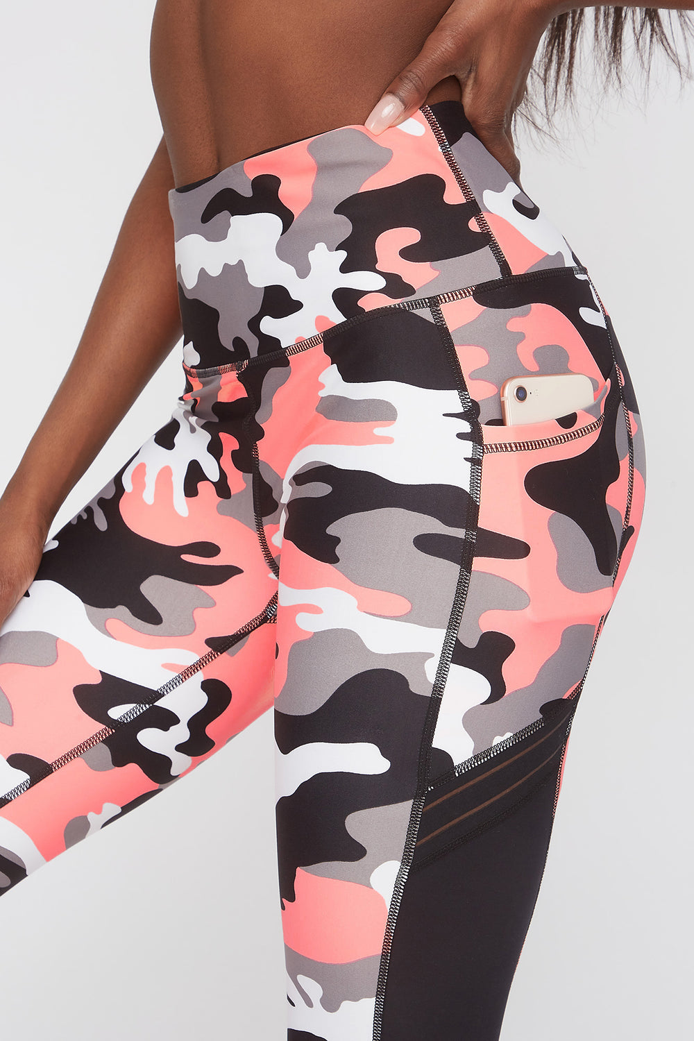 Infinite High-Rise Mesh Side Legging Camouflage