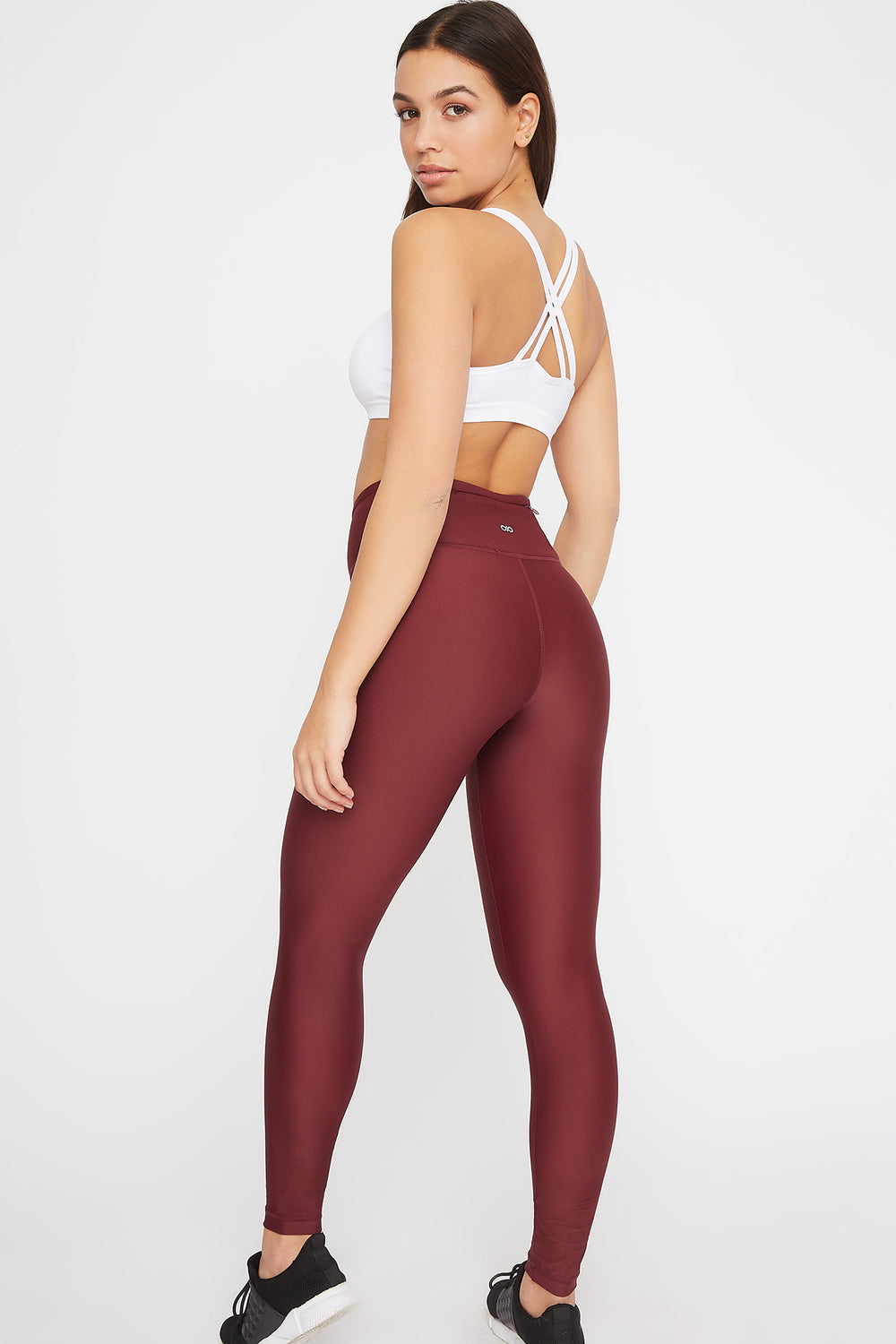 High-Rise Back Pocket Active Legging Dark Red