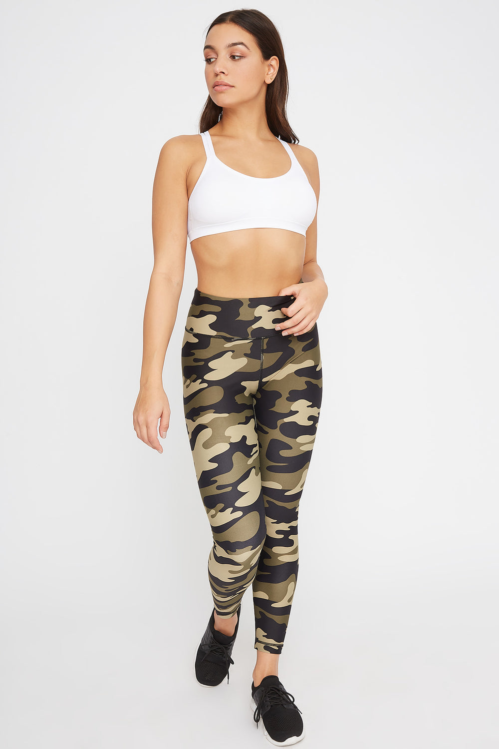 High-Rise Back Pocket Active Legging Camouflage