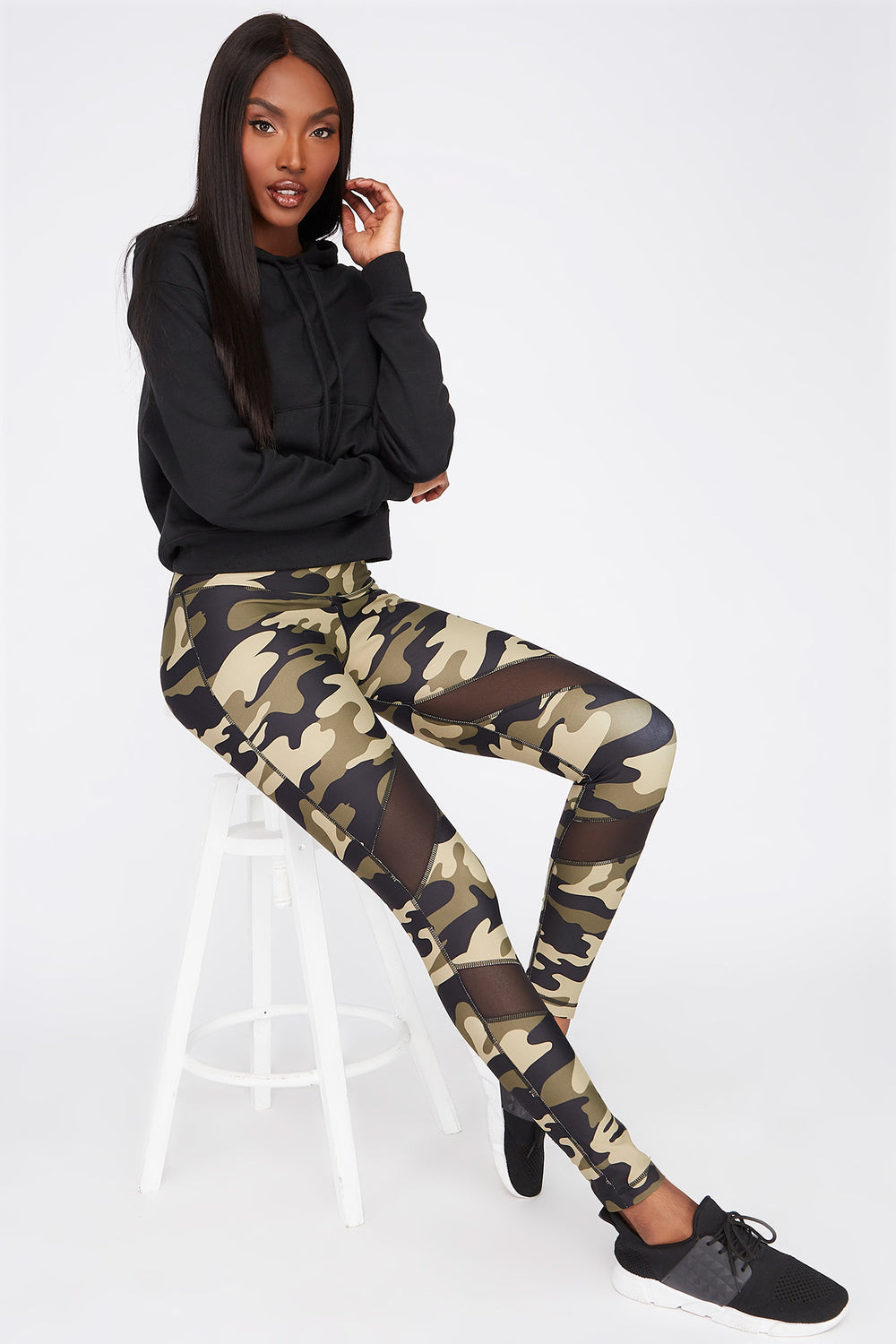 Infinite High-Rise Mesh Panel Active Legging Camouflage