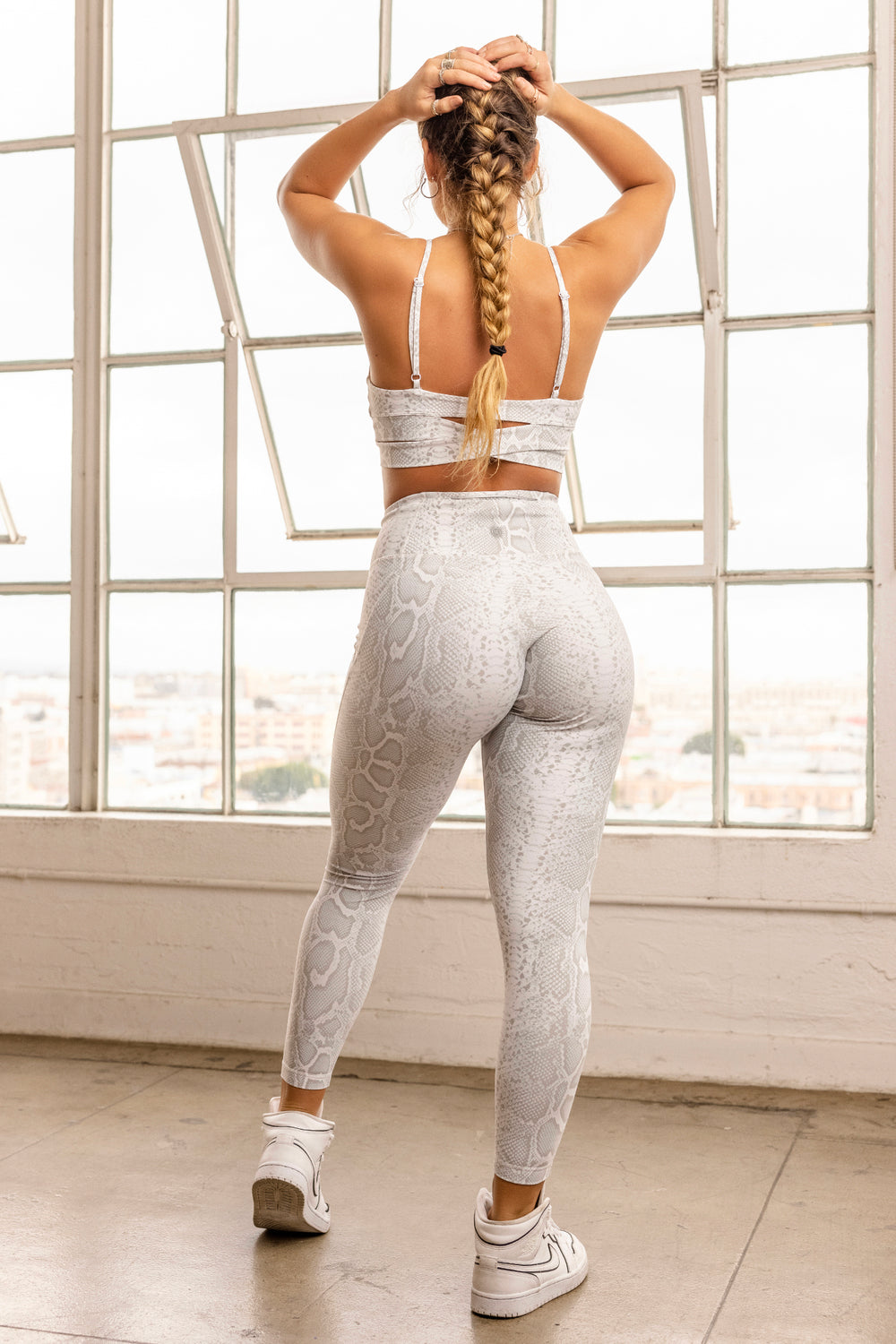 Sommer Ray Snake Skin Printed High-Rise Butt Lift Active Legging Multi