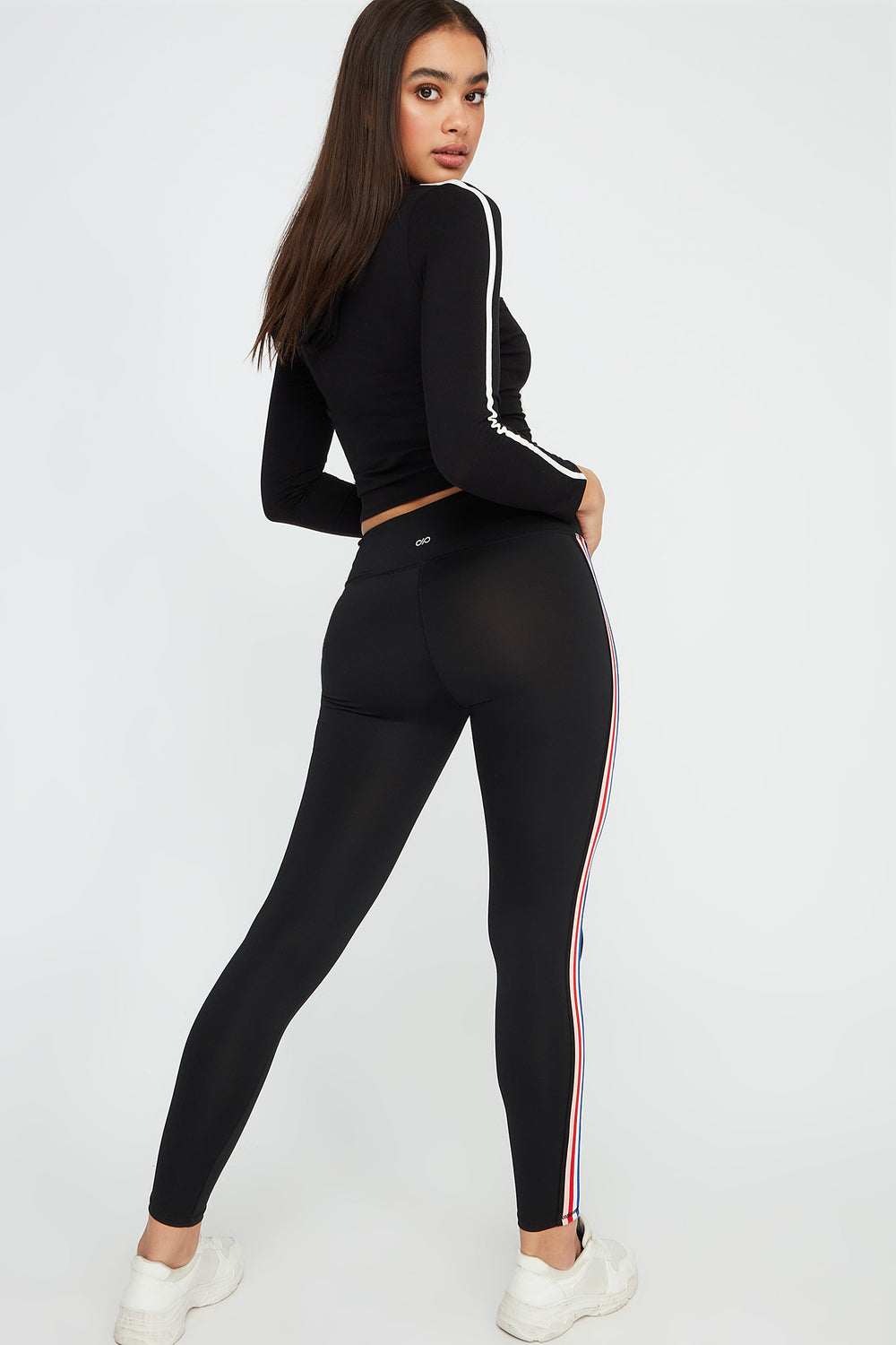 Infinite Side Stripe Active Legging Black