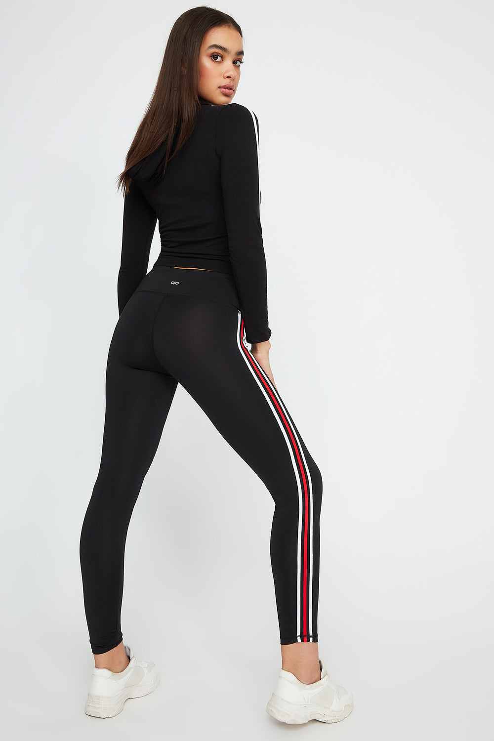 Infinite Side Stripe Active Legging Plaid