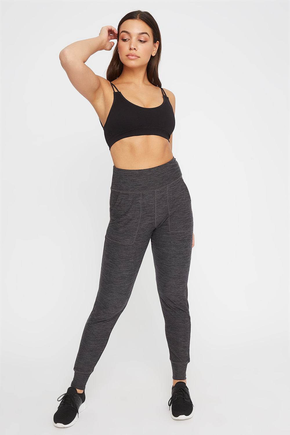 Soft Space Dye Jogger Charcoal