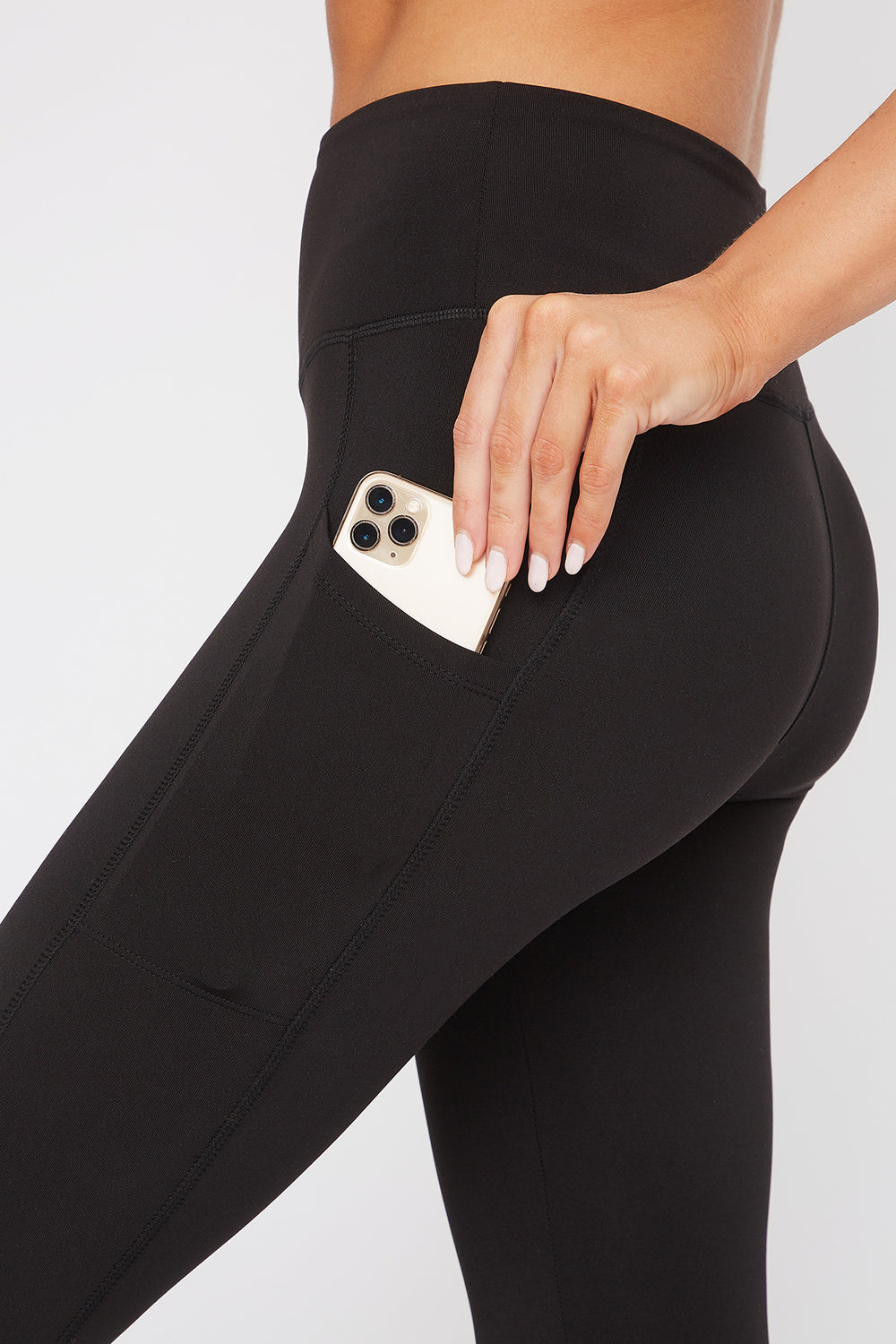 Infinite Dual Pocket High-Rise Active Legging Black