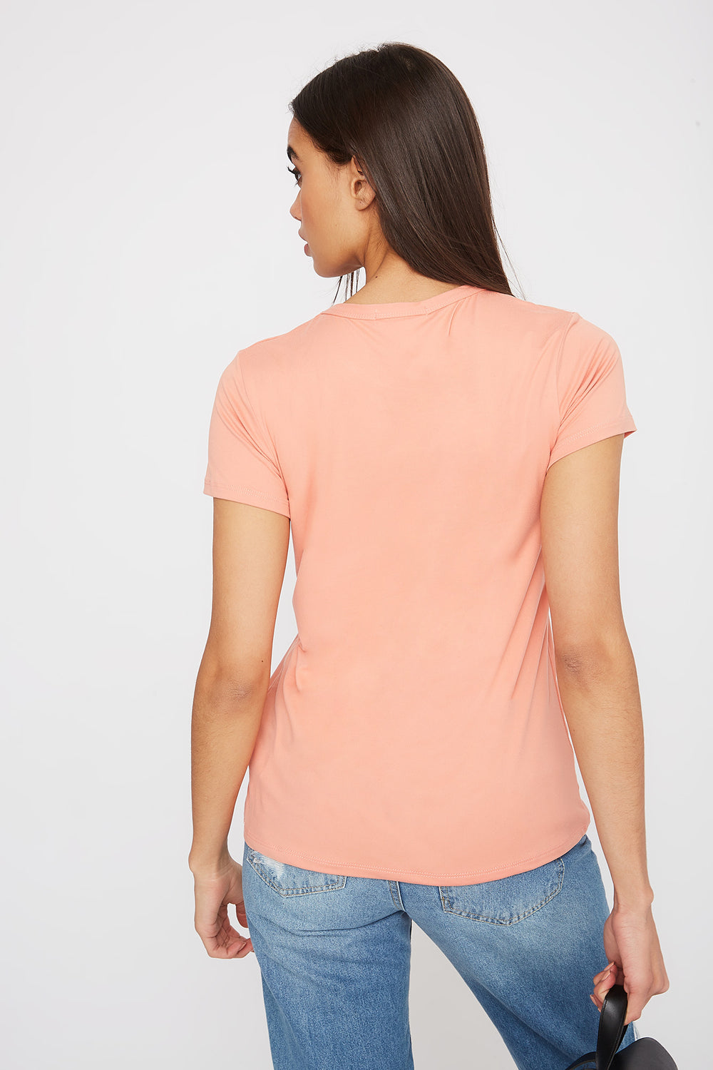 Graphic Soft T-Shirt Peach