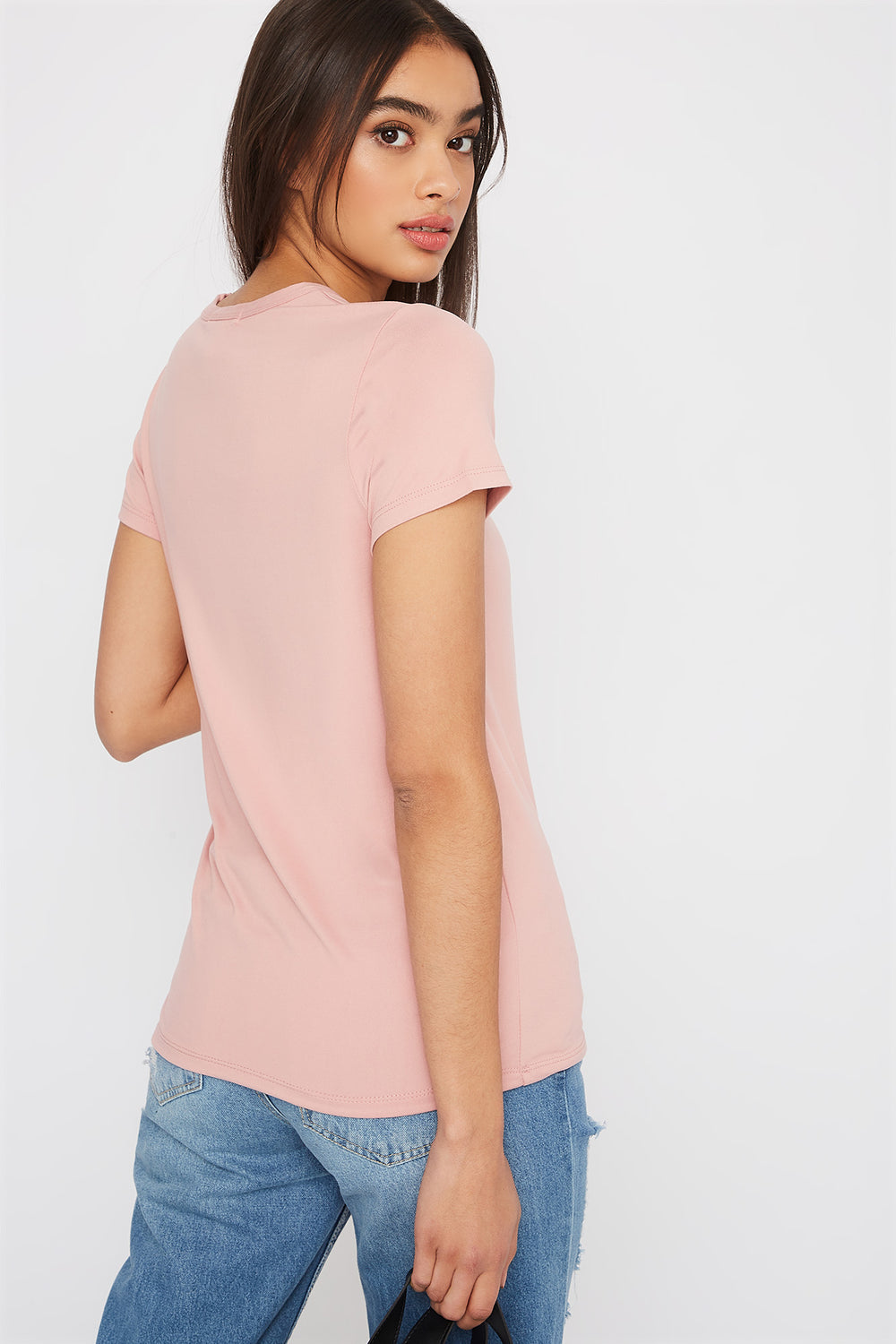 Graphic Soft T-Shirt Light Pink