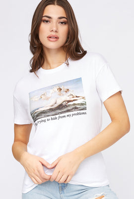 Camiseta Gráfica de Meme Hide From My Problems