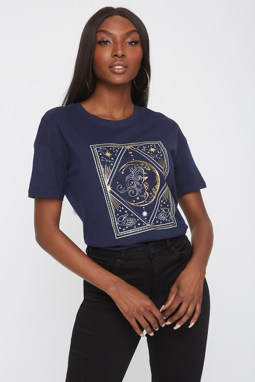 Mystic Moon Graphic T-Shirt Navy