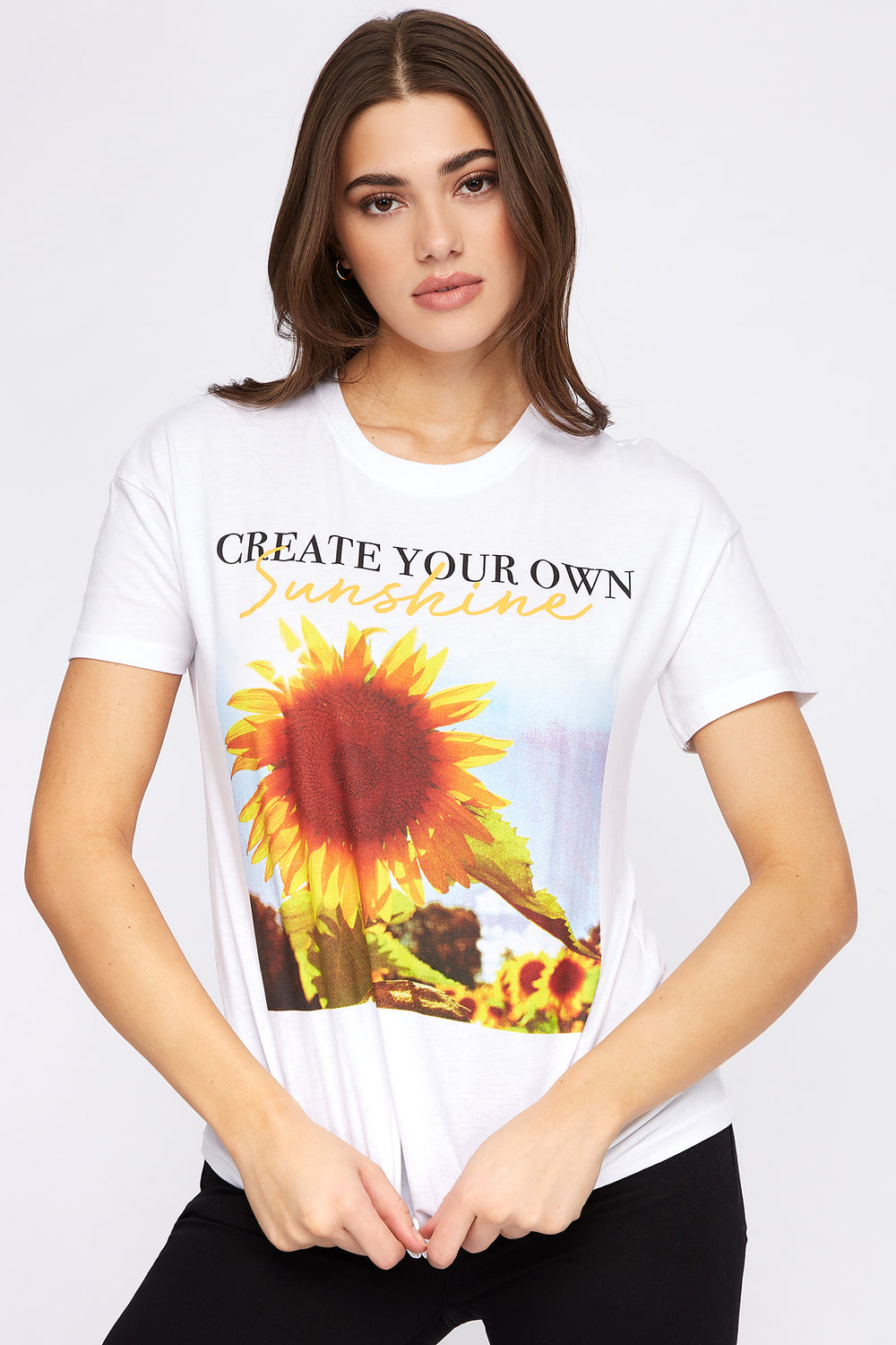 Create Your Own Sunshine Graphic T-Shirt White