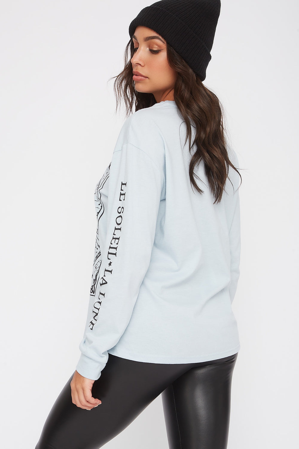 Graphic Mystic Long Sleeve Light Blue