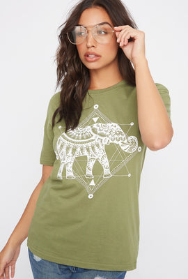 Graphic Mystic Elephant T-Shirt