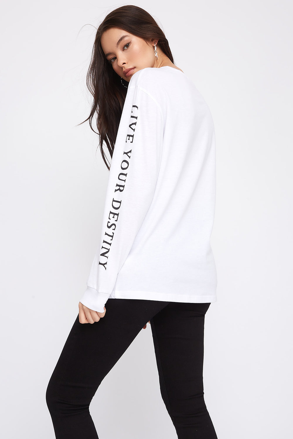 Graphic Boyfriend T-Shirt White