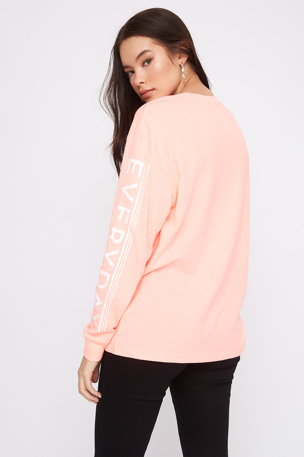 Graphic Boyfriend T-Shirt Pink