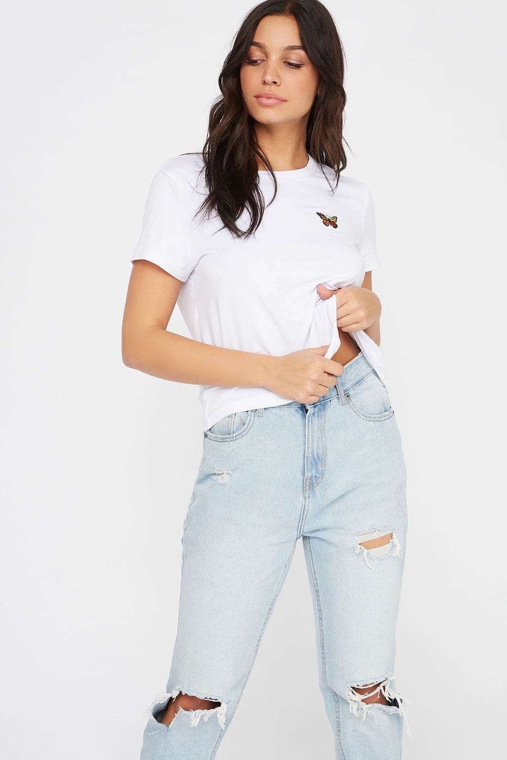 Soft Embroidered T-Shirt White