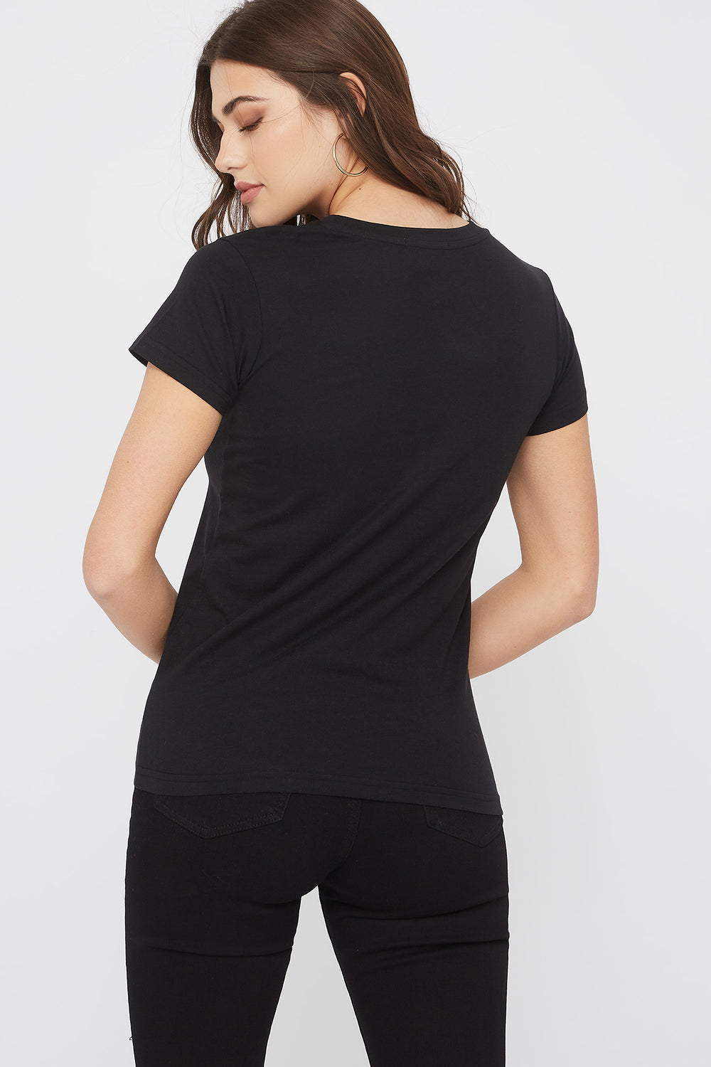Graphic Fitted T-Shirt Black