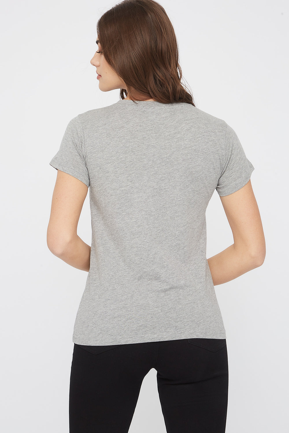 Graphic Fitted T-Shirt Heather Grey