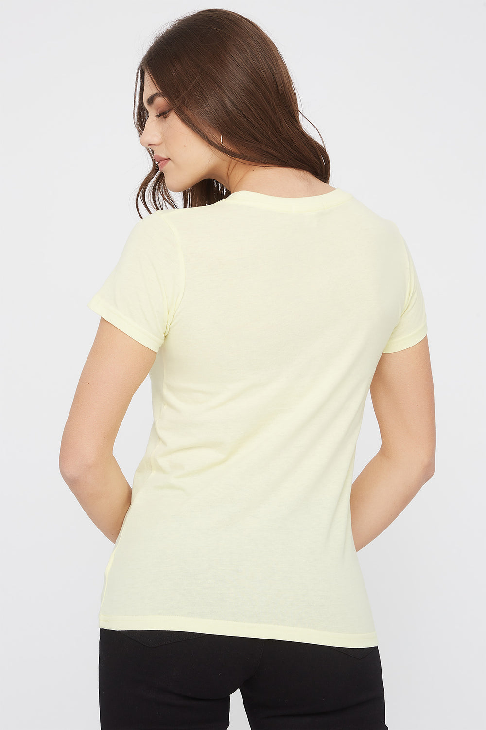 Graphic Fitted T-Shirt Yellow