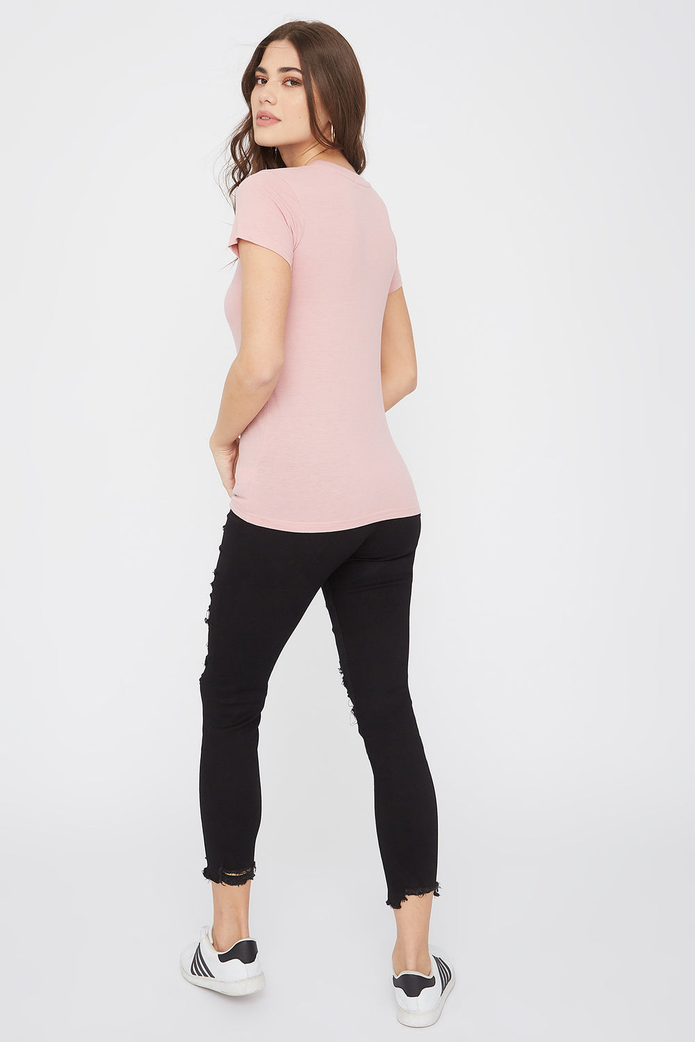 Graphic Fitted T-Shirt Light Pink