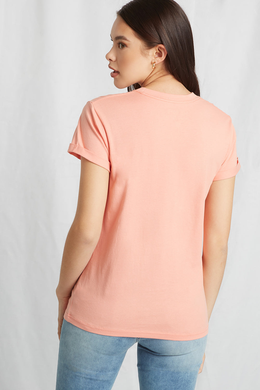 Eco-Friendly Graphic Organic Cotton T-Shirt Pink