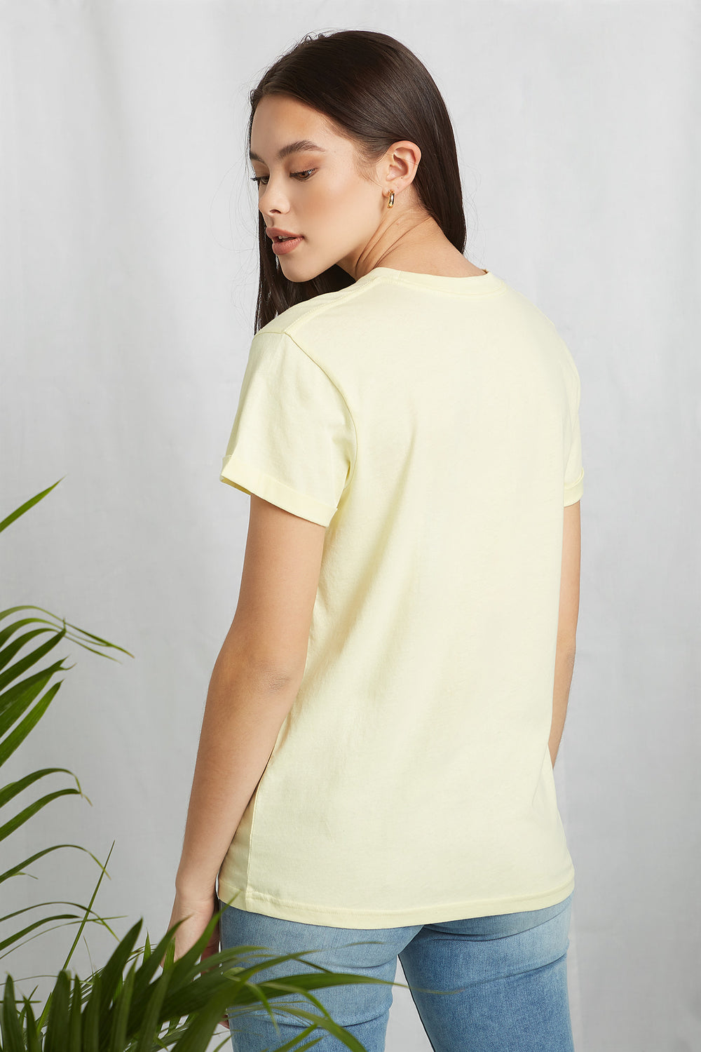 Eco-Friendly Graphic Organic Cotton T-Shirt Yellow