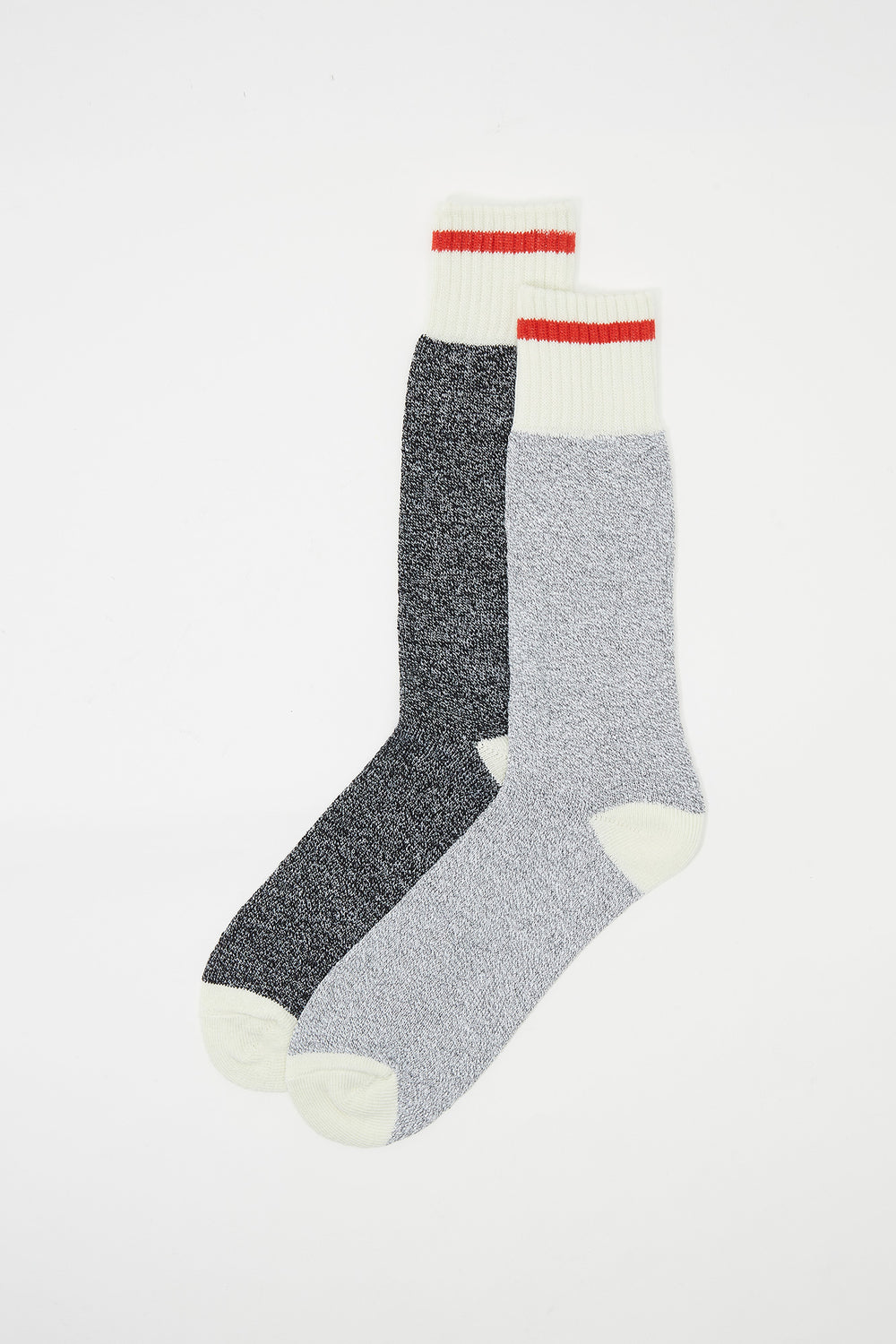 Cabin Contrast Stripe Boot Socks (2 Pairs) Light Grey