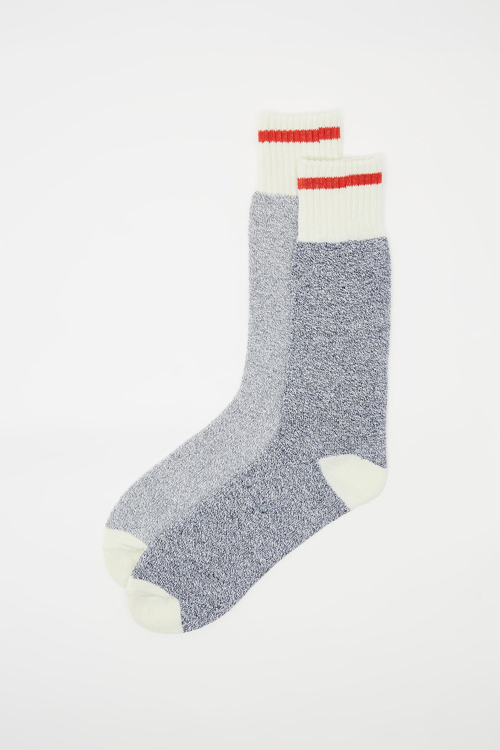 Cabin Contrast Stripe Boot Socks (2 Pairs) Medium Blue