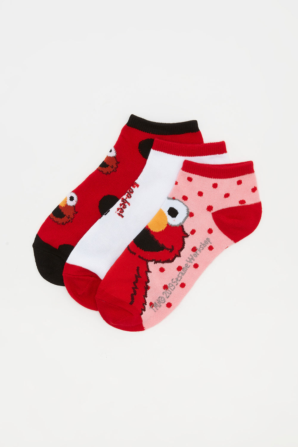 Elmo Ankle Socks (3 Pairs) Assorted
