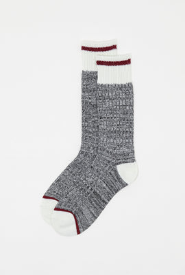 Contrast Stripe Boot Socks (2 Pairs)
