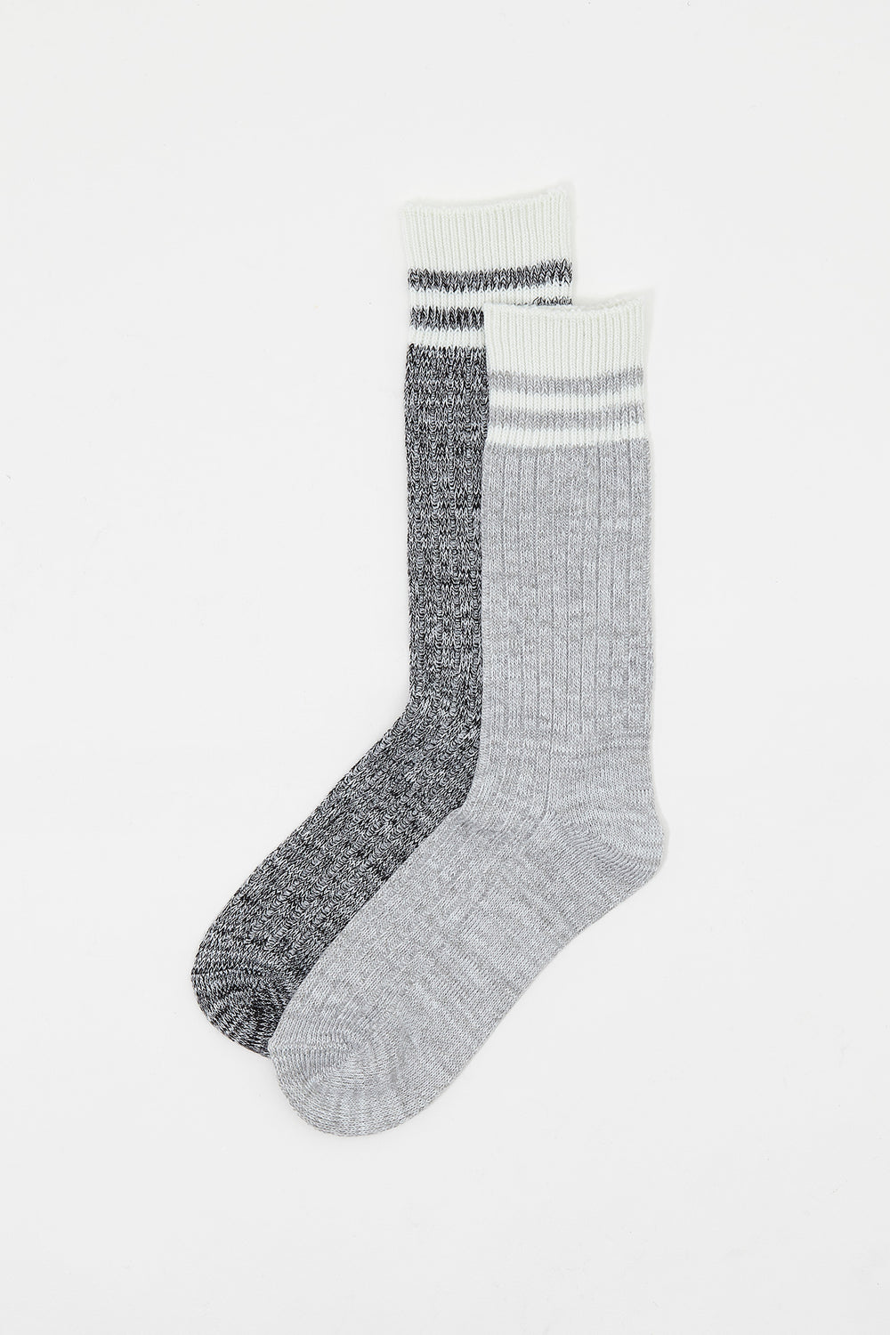 Salt and Pepper Boot Socks (2 Pairs) Heather Grey