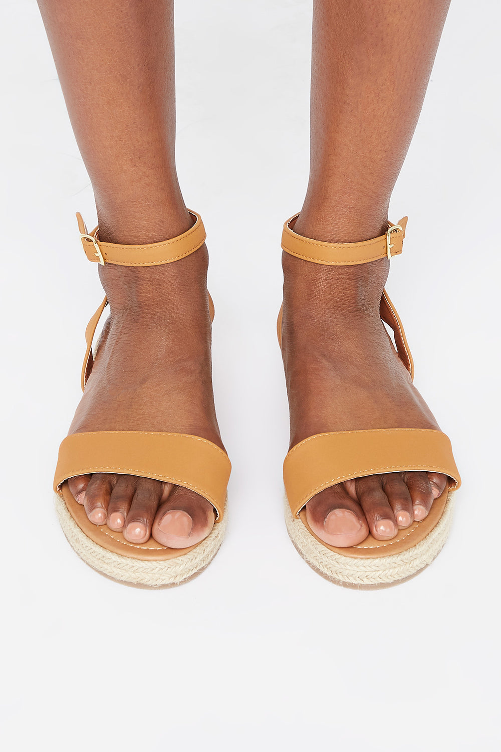 Buckle Band Espadrille Sandal Tan