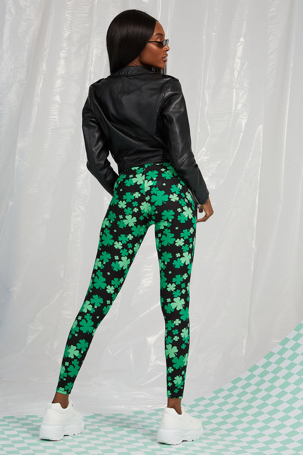St. Patrick's Day Clover Legging Black