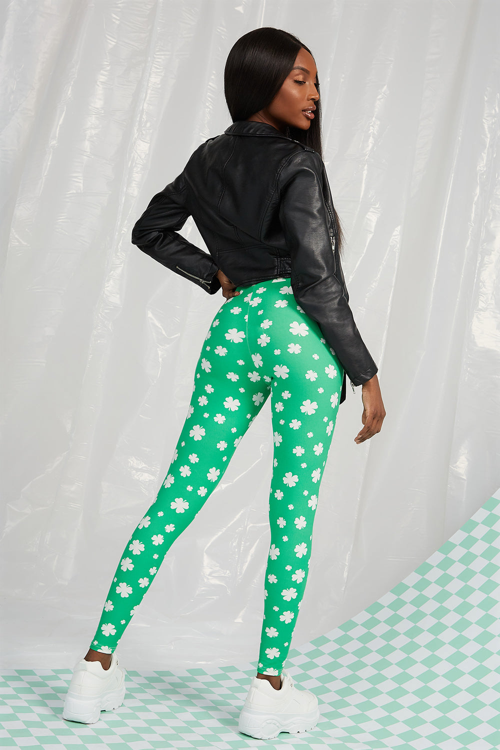 St. Patrick's Day Clover Legging Green