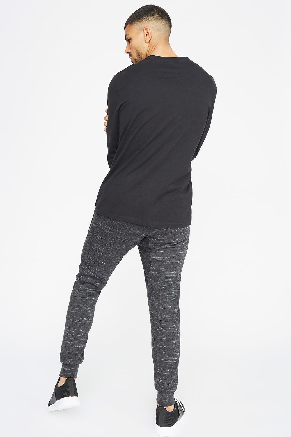 Textured Panel Jogger Charcoal