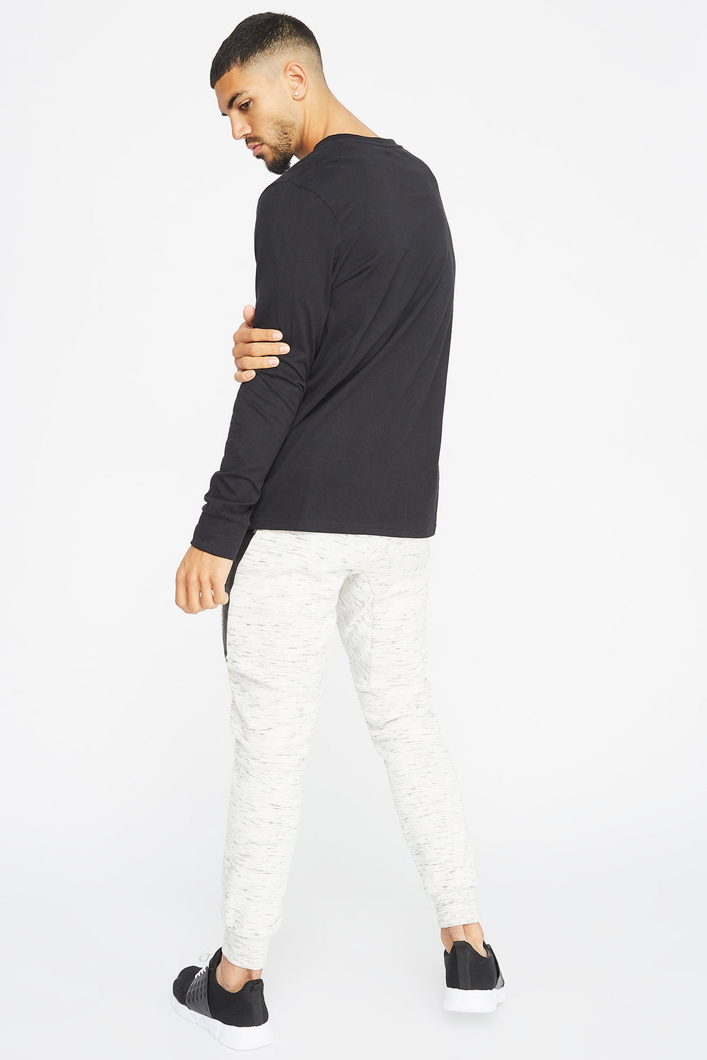 Textured Panel Jogger Oatmeal