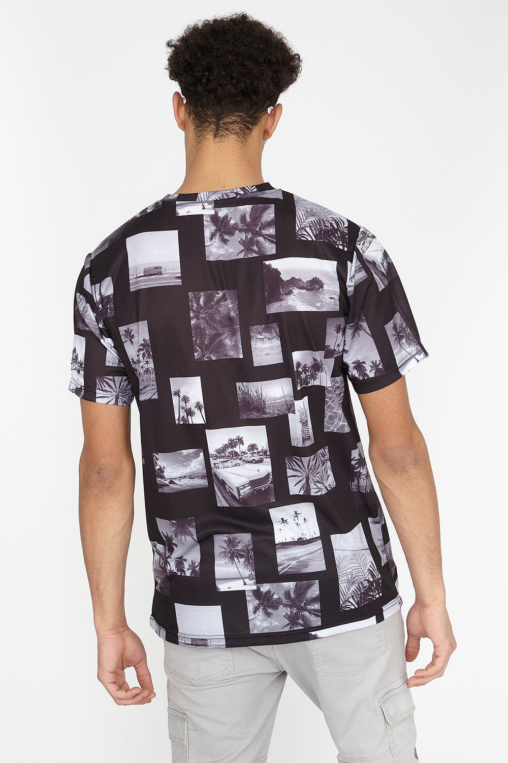 California Photo Collage Graphic T-Shirt Black