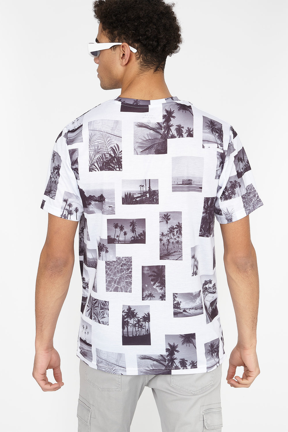 California Photo Collage Graphic T-Shirt White