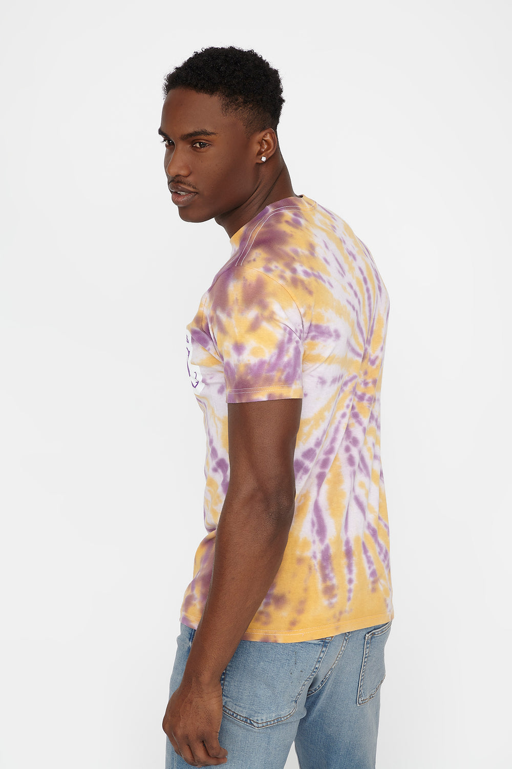 Tie-Dye Los Angeles Lakers Graphic T-Shirt Yellow
