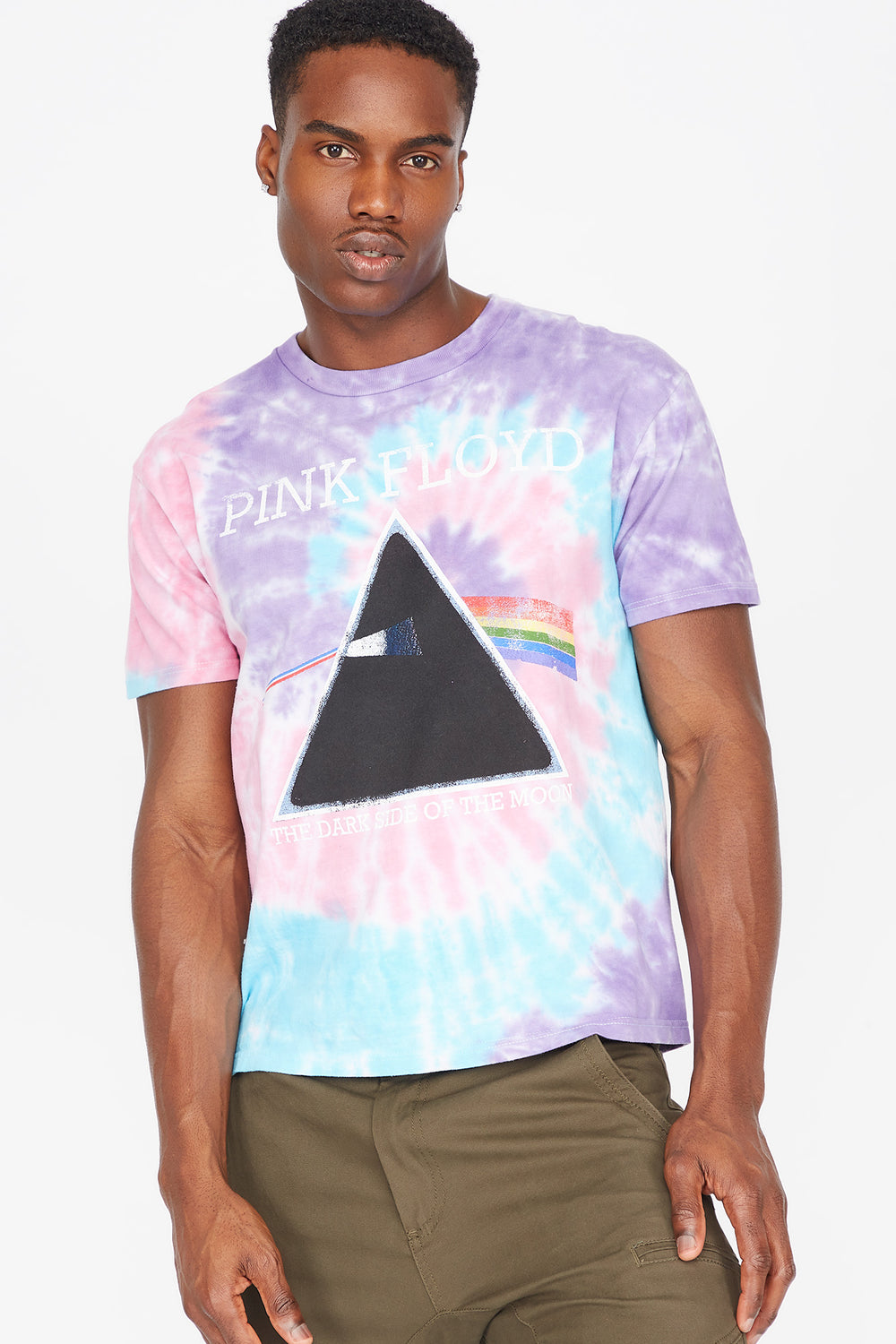 Tie Dye Pink Floyd Graphic T-Shirt Multi