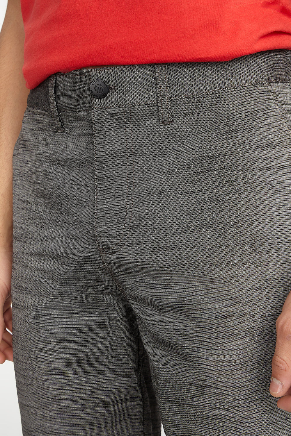 Textured Solid Short Dark Grey