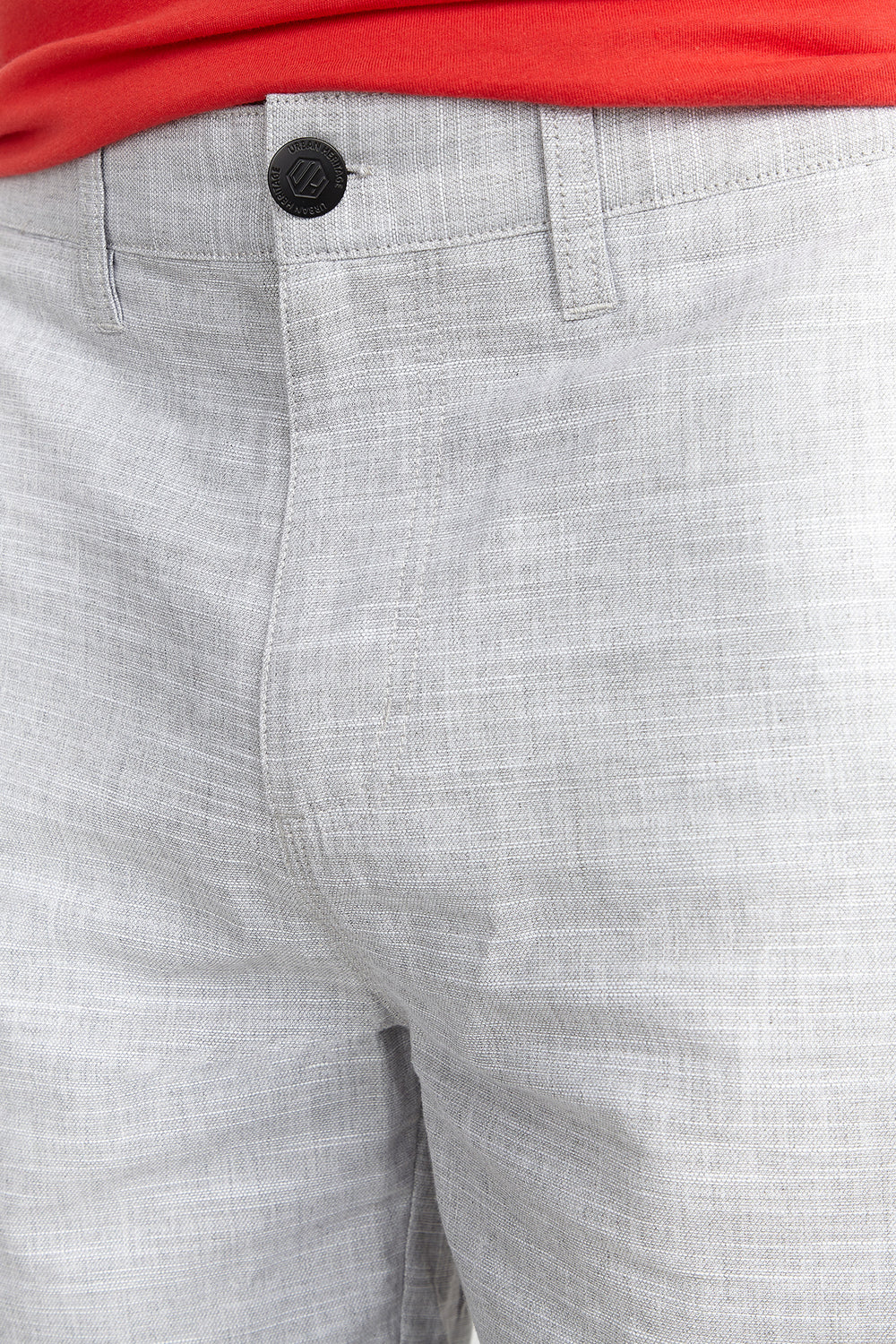 Textured Solid Short Light Grey