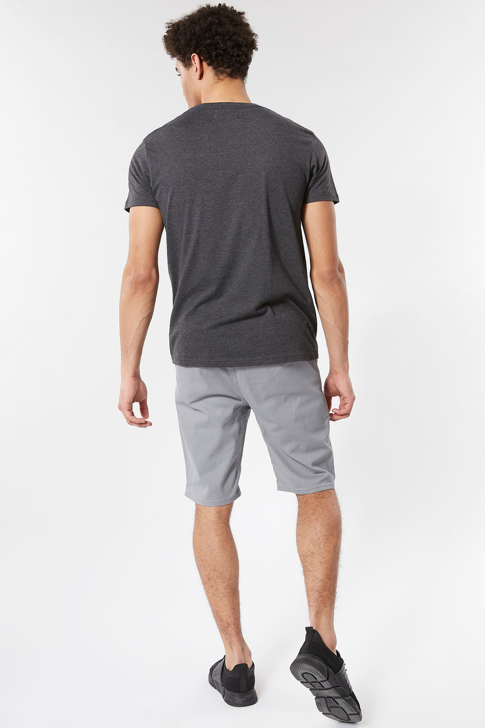 Eco-Friendly Solid Twill Jogger Short Heather Grey