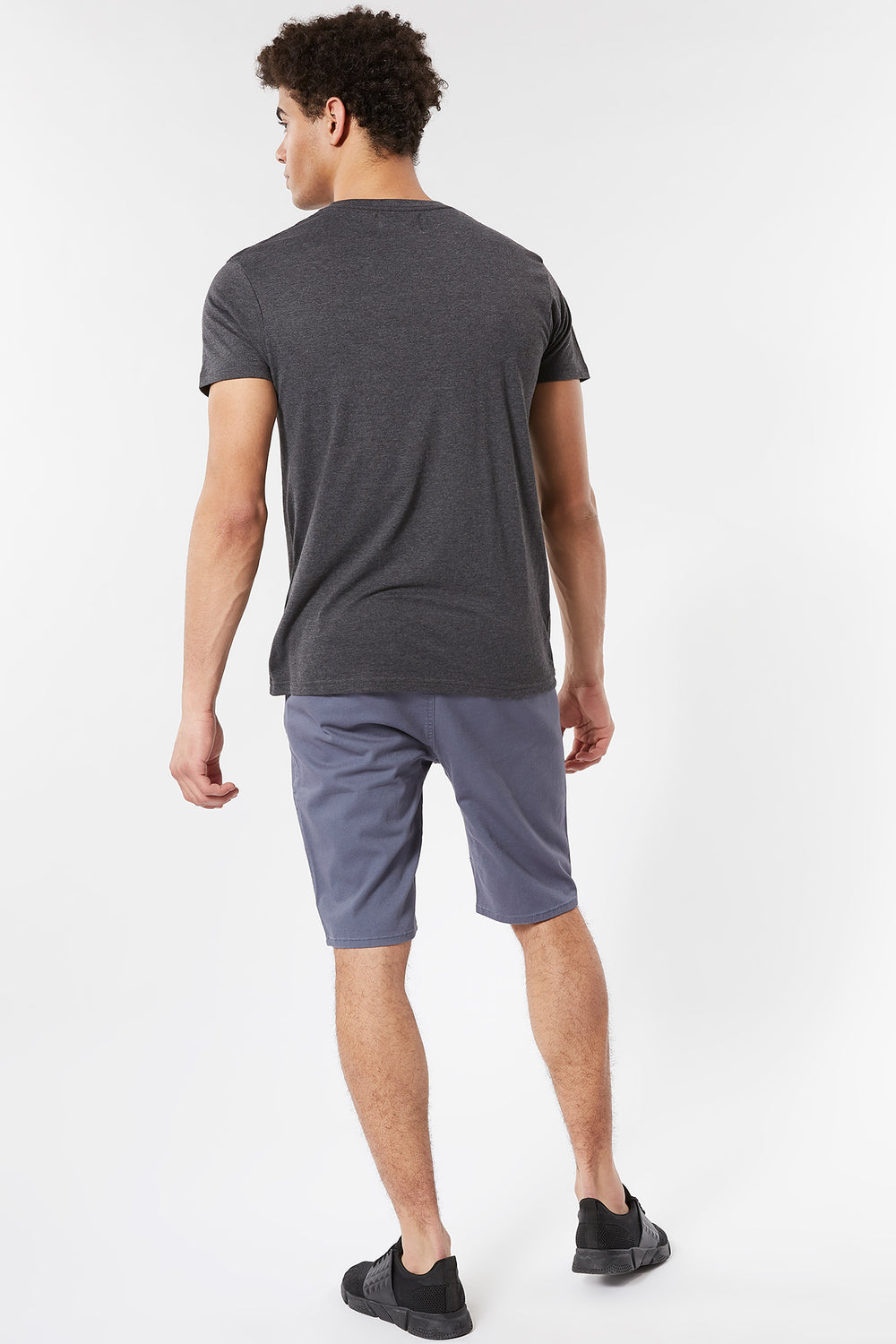 Eco-Friendly Solid Twill Jogger Short Blue