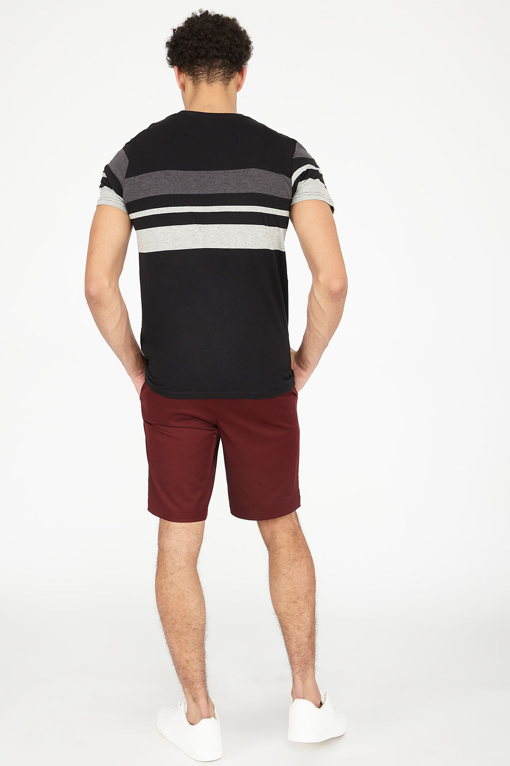 Solid Street Short Burgundy
