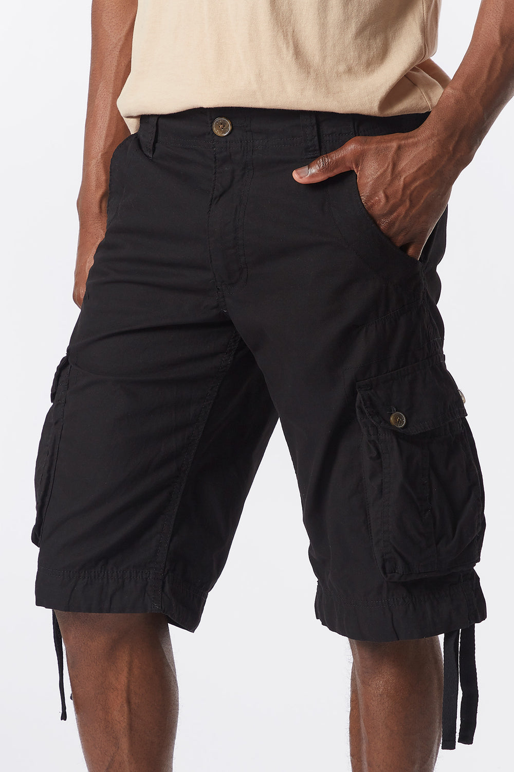 Solid Cargo Short Black